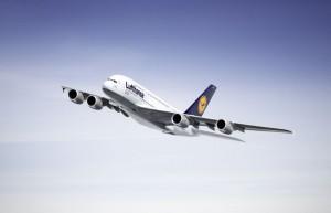 Lufthansa Trainingsflüge mit dem A380 am Baden Airport