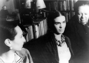 Malu Block, Frida Kahlo de Rivera und Diego Rivera (von links nach rechts), 19. März 1932.