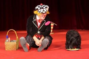 Oleg Popov und Hund