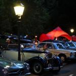 Mercedes-Benz Oldtimer vor der Trinkhalle